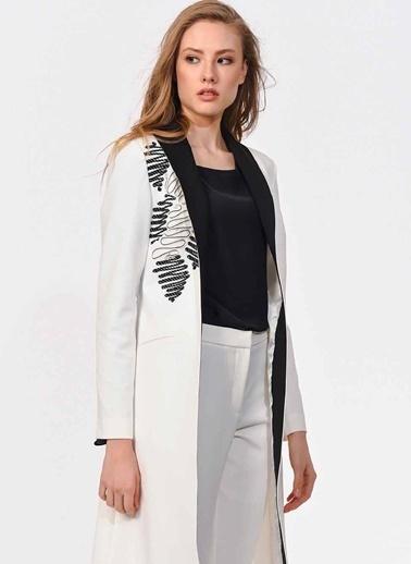 Mizalle Ceket Beyaz